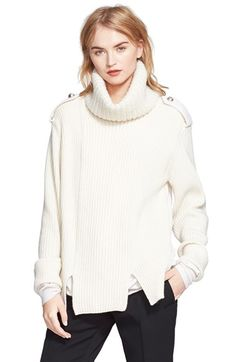 Love this but in black! Alexander McQueen Wool & Cashmere Turtleneck Sweater available at #Nordstrom