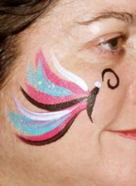 Heart And Rainbow Cheek Art Painting Designs