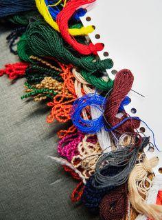 Kvadrat/Raf Simons textiles coming to life at the manufacturer Innvik Sellgren, western Norway. Photo: Lars Petter Pettersen