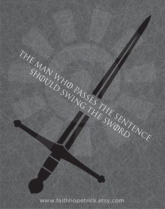 Swing The Sword Games of Thrones Inspired Print by FaithHopeTrick