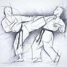 #zeichnung #drawing #disegno #skizze #sketch #karate #karatedo #shotokan #dojo #dan #meistergrad #budoka #schwarzgurt #kuroobi #blackbelt #yokogeri #kekomi #kampfkunst #martialarts #karetefamily #karatemaster #karateislife #karateman #karate4live #karateteam