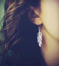 Silver Feather Earrings | Jewelry Earrings | Nautical Wheeler Jewelry | Scoutmob Shoppe | Product Detail