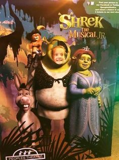 A great way to introduce children to the theatre - People's Theatre Shrek JR The Musical is on now 10 Year Old, Shrek, Working Moms, Jr, Theatre, Musicals, Children, Movie Posters, Toddlers