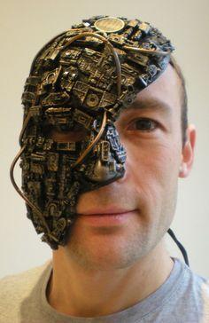 techno phantom mascarade mask bronze