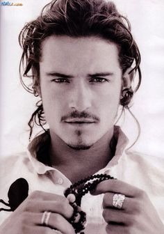 "Orlando Bloom-- When I went to pin this, the board that was selected was ""Yummy Stuff""... I guess he would fit under that category!   ;o)"