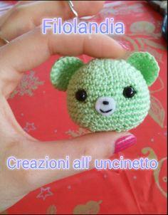 Portachiavi all'uncinetto #crochet #amigurumi #bear