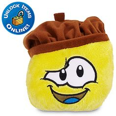 Club Penguin Yellow Pet Puffle Plush with Chocolate Beret - 4'' | Club Penguin | Toys | Boys | Disney Store