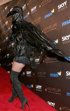Heidi Klum...ok, new Halloween costume role model! I love her creativity! Awesome costumes! I love that they're not all slutty/skimpy costumes