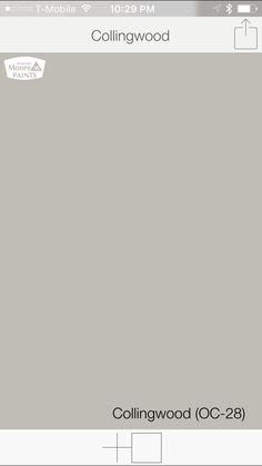 Warm gray paint colors from Benjamin-Moore Collingwood OC-28 | SwatchDeck
