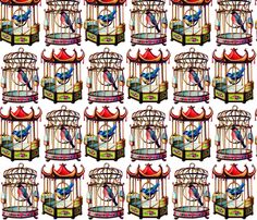 Bird Cages fabric by victoriagolden, available from Spoonflower