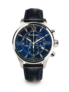 Montegrappa Fortuna, Chrono Blue, 42mm (http://www.montegrappa.com/products/watches/fortuna/chronograph.html)