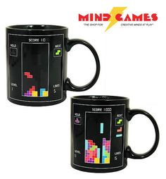 Play the classic puzzle game Tetris every morning with the Tetris Morph Mug! Fill up this mug with your hot beverage of choice and watch as Tetriminos descend upon the playing field.