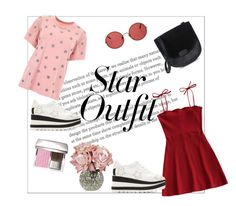 """""""untitled #1"""" by tanayareksa on Polyvore featuring AS65, STELLA McCARTNEY, Sunday Somewhere, Pink, red and StarOutfits"""