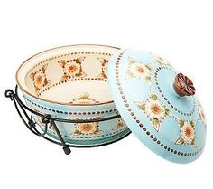 Temp-tations Sedona 2 qt. Round Covered Baker with Wire Basket ($14.76)