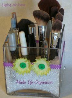 Pretty DIY Make Up Organizer - Juggling Act Mama