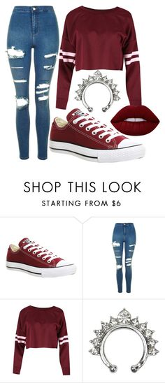"""Untitled #38"" by makoxmarie on Polyvore featuring Converse, Topshop and Lime Crime"