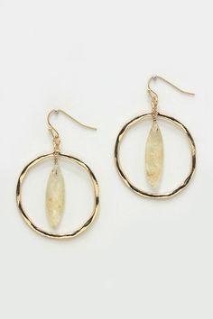 Ova Earrings in Reticulated Quartz