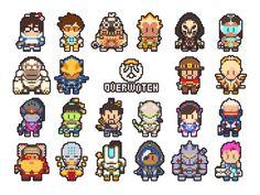 Overwatch Pixel Art by gramoxon