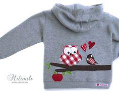 Herbstliche+Eulen-Kapuzenjacke+von+♥++milimili++♥+++++auf+DaWanda.com