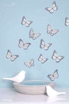 DIY Schmetterlinge. Frühlingsgefühle aus Papier.