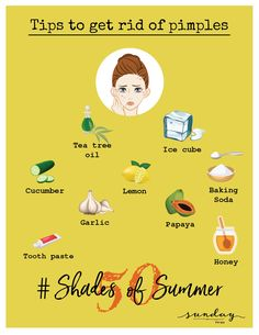 Tired of waking up with a new pimple everyday. Try these remedies to get rid of stubborn pimples. #sundaythespa #simpleremedies #homeremedies #Day14 #50shadesofsummer #pimples #acnecare #skincare #skincaretips #pimplecare #pimpleremedies