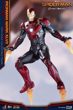 Iron Man's Spider Man Homecoming Hot Toys Figure W/ New Suit