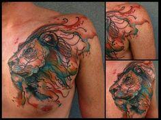tattoo lion color - Buscar con Google