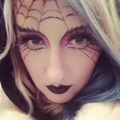 black widow spider makeup
