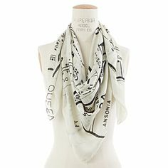 Scarf with outline of NYC postal code zones---love!