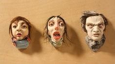 ARTa: May 2012 Clair Monaghan  Jack Nicholson, Shelley Duvall in The Shining, Polymer Clay