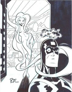 Medusa And Black Bolt by Bruce Timm