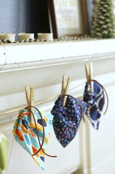 DIY: mini drawstring bags