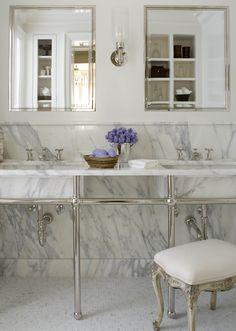 Slab marble....from designer Phoebe Howard.