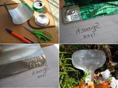 Etched Aluminum Cans | 26 DIY Plant Markers For Your SpringtimeGarden