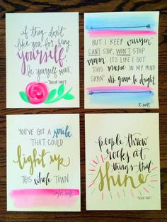 Taylor Swift Lyrics and Quotes // by PaperDotInkDesigns on Etsy