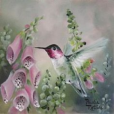 Image result for paulie rollins hummingbird painting