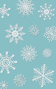 Emboss Snowflake iPhone wallpaper