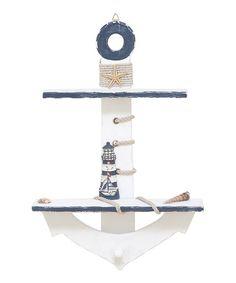 DIY inspiration-Lighthouse Anchor Shelf - Diy Home Crafts Nautical Bedroom, Nautical Bathrooms, Nautical Home, Nautical Anchor, Nautical Baby, Wood Anchor, Anchor Room, Anchor Nursery, Wall Decor Stickers