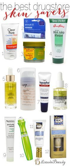 Great drugstore #skincare products to fix everything from clogged pores to wrinkles.