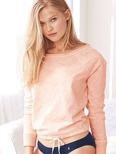 Marled Draw-tie Pullover