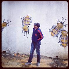 Bees graffiti - Woodstock, Cape Town