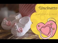 Uncinetto bimbi: scarpina ballerina mesi-How to do shoes dancer months Crochet Baby Boots, Knit Baby Booties, Knit Crochet, Crochet Hats, Baby Dyi, Sewing Stitches, Crochet For Kids, Baby Knitting, Free Pattern