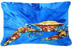 Big Splash Crab Indoor/Outdoor Throw Pillow