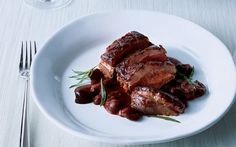 Duck Breast with Sweet Cherry Sauce