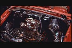 Christine 58 Fury engine pics | christine 58 plymouth finished factory stock modeling