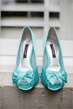 Nina   teal wedding shoes   wedding heels   bridal look   colorful wedding   #weddingchicks