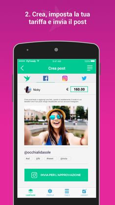 FlyTrendy influencer app in Italian! App, Marketing, Projects, Instagram, Log Projects, Apps