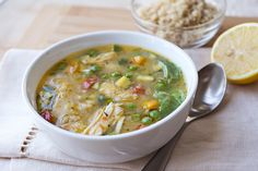 Simple Lemony Chicken & Spring Veggie Soup, A Little Sunshine In My Spoon post image