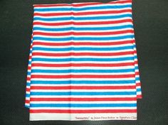 FABRIC SEWING CRAFTS Red White Blue Stripe by JunqueInMyTrunks