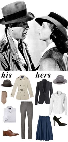 Casablanca 9 Iconic Couples to Dress Up as This Halloween Halloween Party Costumes, Halloween Dress, Halloween Outfits, Halloween Makeup, Casablanca, Movie Character Costumes, Movie Costumes, Best Movie Couples, Theme Halloween